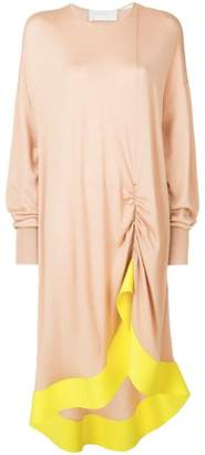 Esteban Cortazar ruffle sweater dress