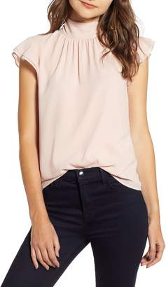 Chelsea28 Dotted Crinkle Chiffon Top