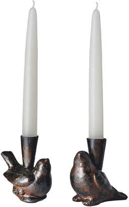 Jan Barboglio Two Cotorro Candlesticks