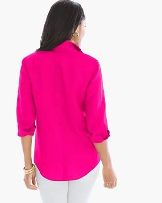 No Iron Linen Button-Back Shirt