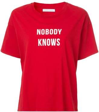 Nobody Denim Nobody Knows Tee Flame