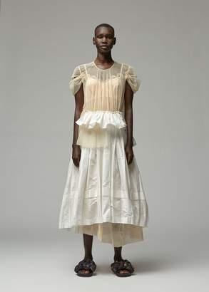 Simone Rocha Deconstructed Pleated Dress