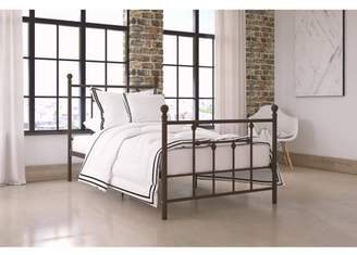 DHP Dorel Home Manila Metal Bed with Victorian Style Headboard and Footboard, Includes Metal Slats, Twin, Bronze