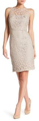 Marina Sleeveless Lace Sheath Dress $119 thestylecure.com