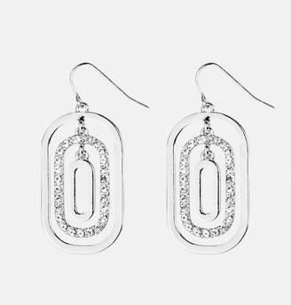 Avenue Tiered Oval Diamond Earrings