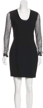 Robert Rodriguez Lace-Accented Mini Dress w/ Tags