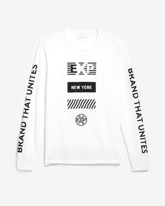 Express Exp Brand That Unites Long Sleeve Graphic Tee