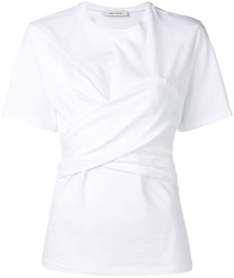Cédric Charlier T-shirt with knotted drape
