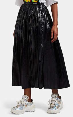 Maison Margiela Women's Pleated Tech-Taffeta Skirt - Black