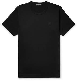 Acne Studios Nash Appliquéd Cotton-Jersey T-Shirt