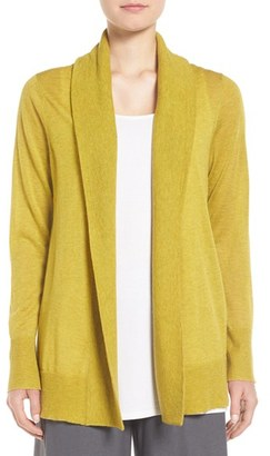 Women's Eileen Fisher Shawl Collar Tencel Blend Cardigan $238 thestylecure.com