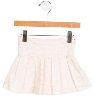 Tartine et Chocolat Girls' Pleated Metallic-Accented Skirt