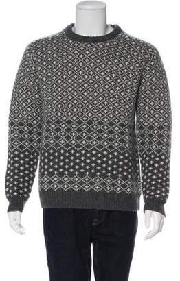 Beams Patterned Intarsia Wool Sweater