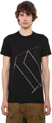 Rick Owens Cotton Jersey T-Shirt W/ Embroidery