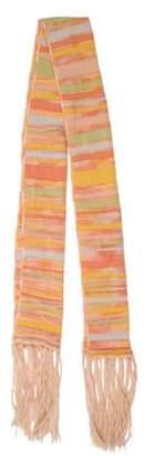Missoni Patterned Wool Shawl Pink Patterned Wool Shawl