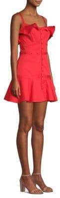 Alexis Jodie Buttoned Mini Flare Dress