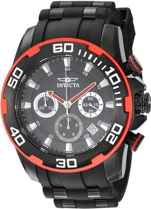 Invicta Men's 'Pro Diver' Quartz Stainless Steel and Silicone Casual Watch, Color: (Model: 22310)