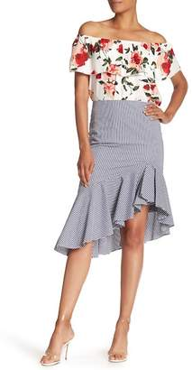 Catherine Malandrino Striped Asymmetrical Skirt