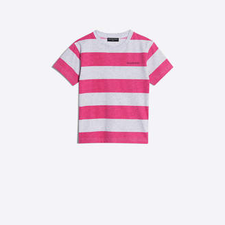 Balenciaga Stripes T-shirt with logo embroidered at chest and back