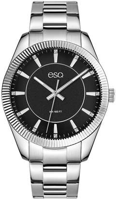 ESQ Men's ESQ0154 Stainless Steel Bracelet Watch, Black Dial and Crystal Accents