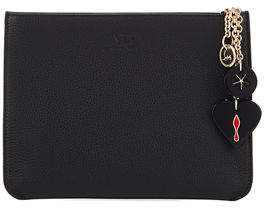 Christian Louboutin Loubicute Calf Empire Charms Clutch Bag