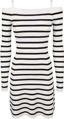 Theory Pirellia Striped Off-shoulder Dress