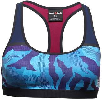 Reebok Womens CrossFit Proud Chest II Bra Wild Blue