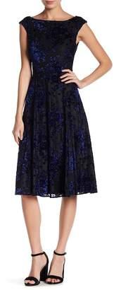 Betsey Johnson Velvet Tea Length Dress