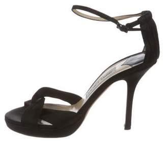 Jimmy Choo Satin Ankle-Strap Sandals