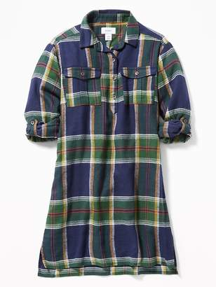 Old Navy Plaid Flannel Shirt Dress for Girls