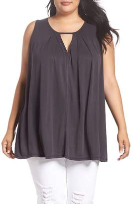 Lucky Brand Sandwashed Chocker Neck Top