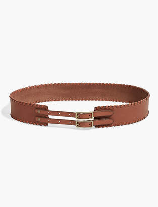 Lucky Brand Buckle Whipstitch Belt