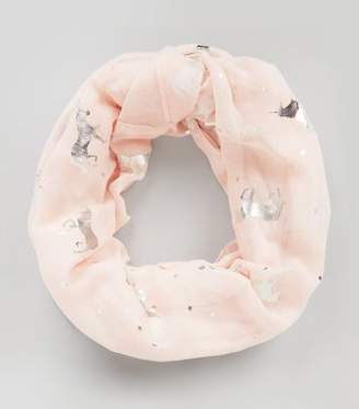 New Look Pink Metallic Unicorn Snood