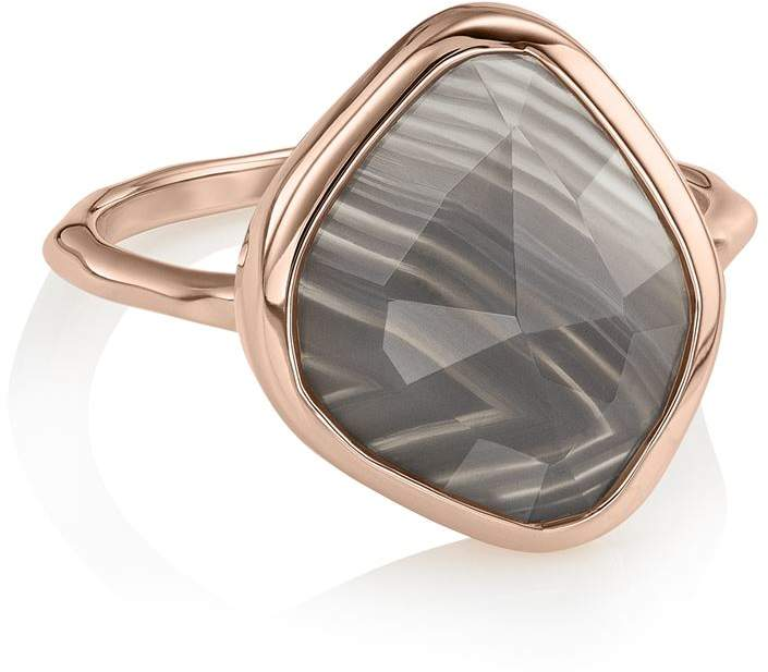 Siren Nugget Grey Agate Stacking Ring