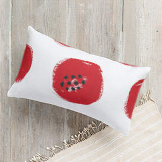 Painted Poppies Self-Launch Lumbar Pillows
