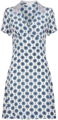 Sandro Printed Silk Dress
