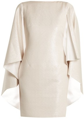 Osman Rebecca Cape Sleeved Dress - Womens - Silver