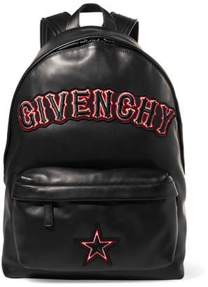 Givenchy Appliquéd Leather Backpack - Black
