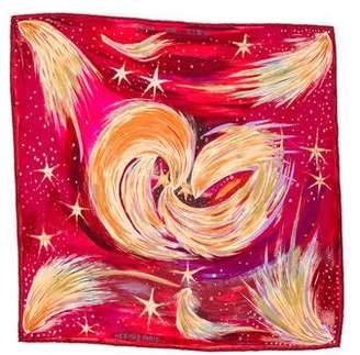 Hermes Feux Du Ciel Silk Pocket Square