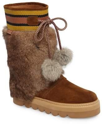 See by Chloe Genuine Fur Boot