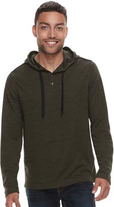 Rock & Republic Men's Hooded Thermal Tee