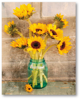 Courtside Market Wall Decor Sunflowers In A Mason Jar Gallery-Wrapped Canvas Wall Art