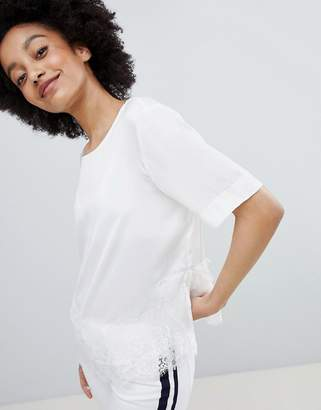 Monki Lace Trim Top