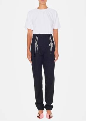 Tibi Luxe Tweed Easton Tie Pants