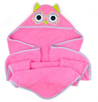 """Dii Design Imports Kids Hooded Bathroom Towel, 32""""x32"""", Cotton, Multiple Styles"""