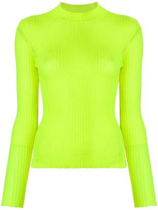 MSGM high-neck ribbed top