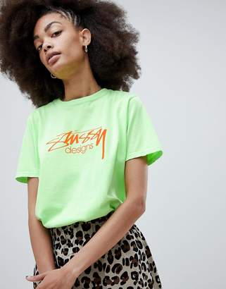 Stussy Relaxed Fit T-Shirt With Designs Logo