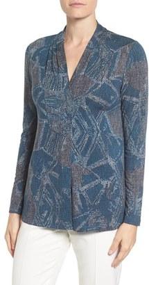 Women's Nic+Zoe 'Broken Pottery' V-Neck Knit Top $128 thestylecure.com