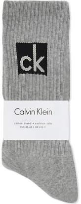 Calvin Klein Logo cotton blend socks pack of three