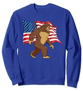 4th Of July Bigfoot With American Flag Sweatshirt